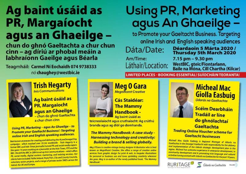 #LoveDonegal Day Case Study for Donegal Enterprise Week Gaeltacht Event